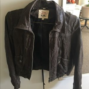 7 for all man kind Leather jacket